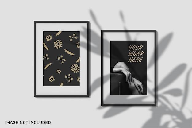 Mockup di frame con sovrapposizione di ombre