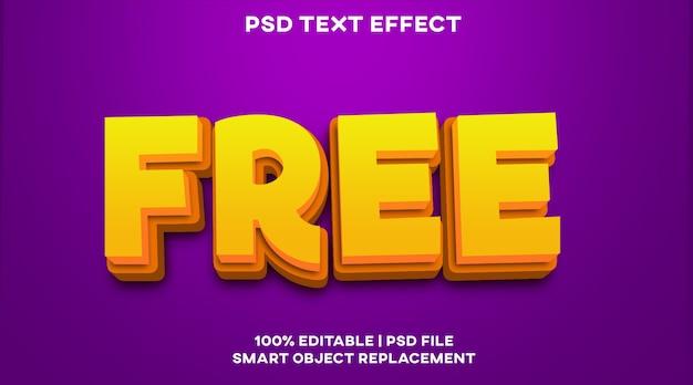 Modello di stile effetto testo libero