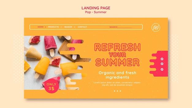 Modello di progettazione della pagina di destinazione del tema gratuito