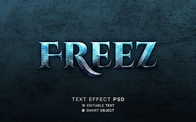 Congela il design dell'effetto del testo