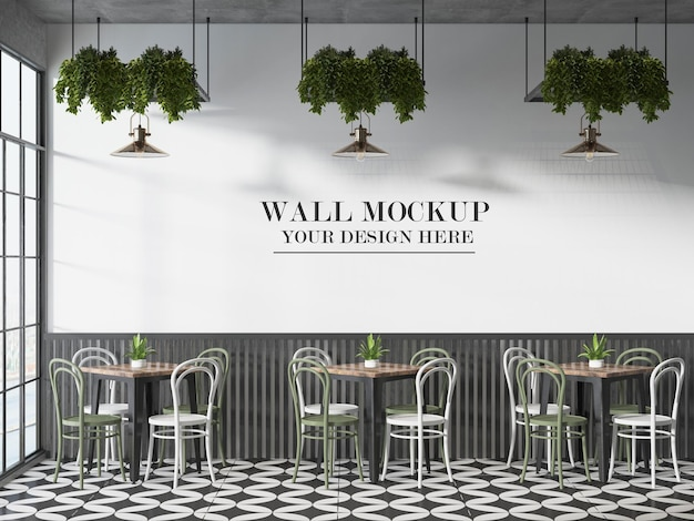 Modello da parete per bistrot o caffè francese