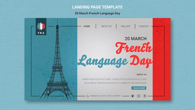 Modello web giornata in lingua francese