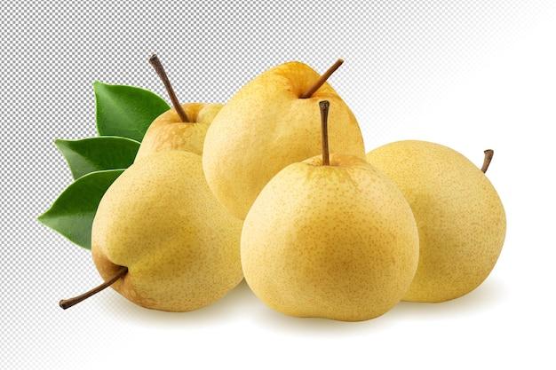 Frutta fresca di pera cinese isolata
