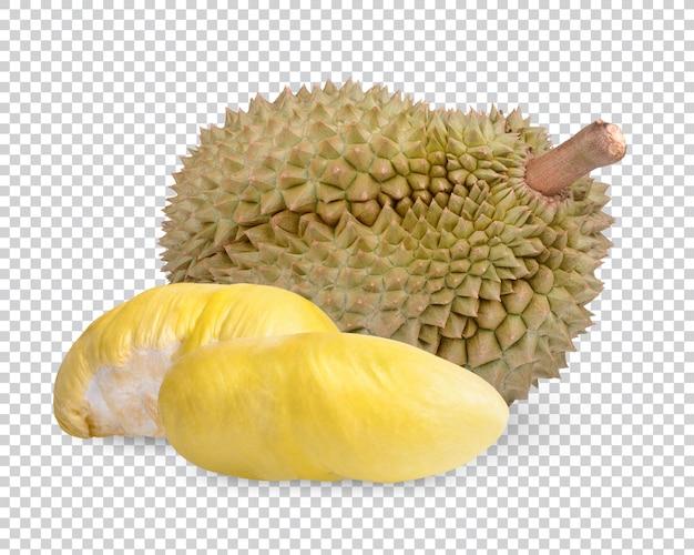 Frutta fresca di durian isolata psd premium