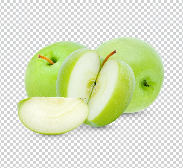 Mela verde fresca isolata psd premium