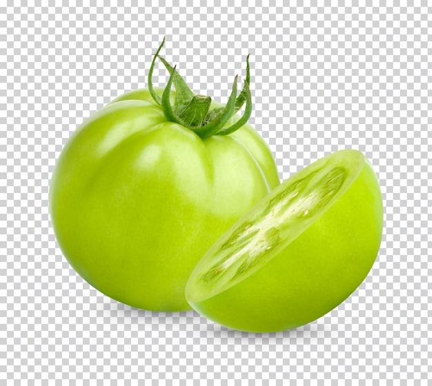 Pomodori verdi freschi isolati