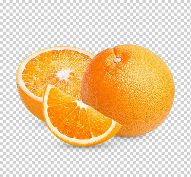 Arancia fresca isolata psd premium