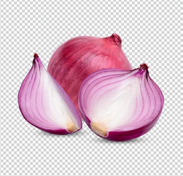 Cipolla rossa fresca isolata premium psd