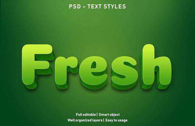 Stile di effetti di testo fresco