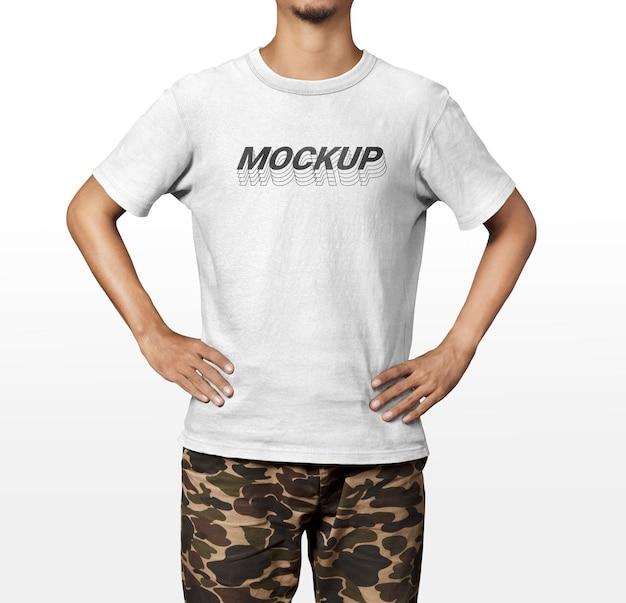 Modello mockup di camicia frontale