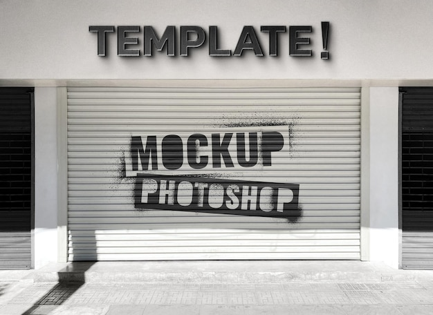 Mockup del negozio di fronte al negozio realistico