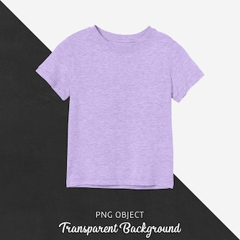 Vista frontale del modello di maglietta viola per bambini di base