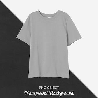 Vista frontale del mockup di t-shirt vestibilità regolare beige