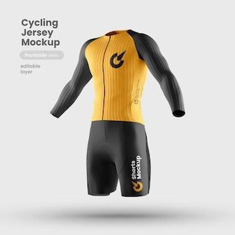 Vista frontale del modello di maglia da bici