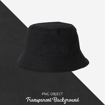 Vista frontale del mockup di cappello nero