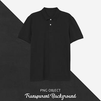 Vista frontale del mockup di maglietta polo nera