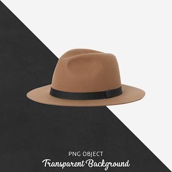 Vista frontale del mockup di cappello marrone