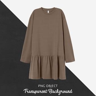 Vista frontale del mockup vestito da donna marrone