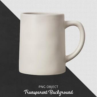 Vista frontale della tazza da caffè in ceramica beige