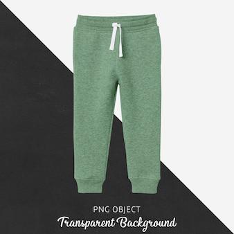 Vista frontale del mockup di pantaloni della tuta per bambini