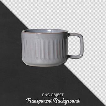 Vista frontale della tazza da caffè isolata o tazza da caffè