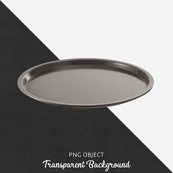 Vista frontale del mockup piatto rotondo grigio scuro