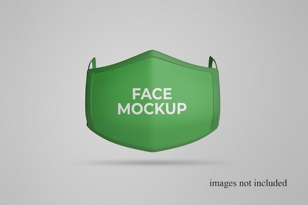 Vista frontale del mockup di maschera facciale galleggiante