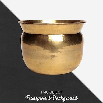 Vista frontale del vaso d'oro