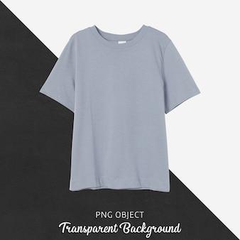 Vista frontale del mockup di maglietta ragazzo grigio