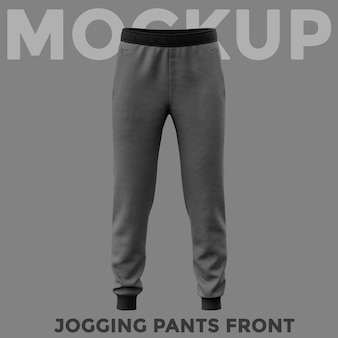 Mockup di pantaloni sportivi grigi vista frontale