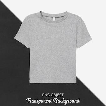 Vista frontale del mockup di t-shirt grigia