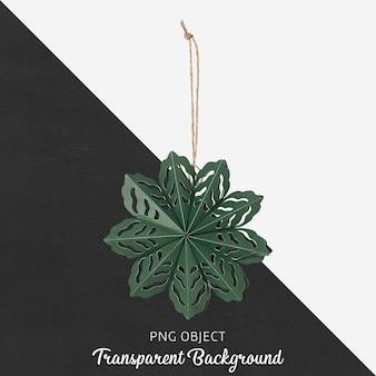 Vista frontale del mockup di ornamento di natale verde