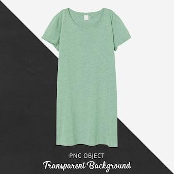 Vista frontale del mockup del vestito verde