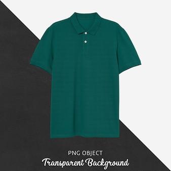 Vista frontale del mockup di maglietta polo verde