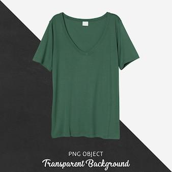 Vista frontale della maglietta regolare verde
