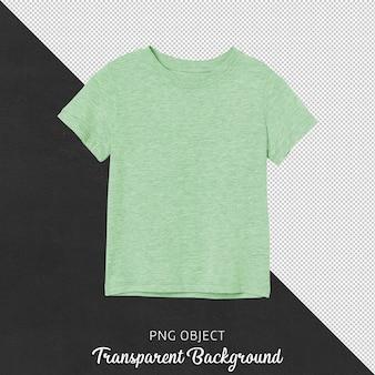 Vista frontale della maglietta di base verde isolata