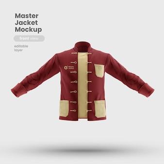 Vista frontale del mockup dell'uniforme della giacca