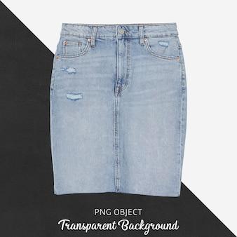 Vista frontale del mockup di gonna di jeans