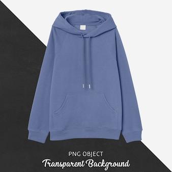 Vista frontale del mockup di felpa con cappuccio blu chiaro