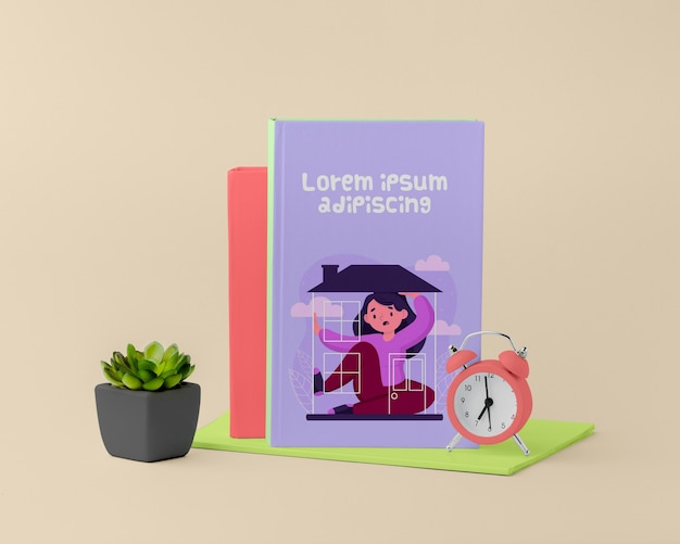 Copertina del libro minimalista vista frontale mock-up