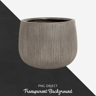 Vista frontale del vaso in pietra naturale
