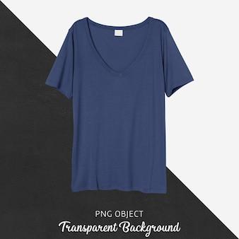 Vista frontale del mockup di maglietta blu navy