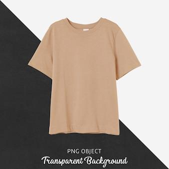 Vista frontale del mockup di maglietta ragazzo arancione