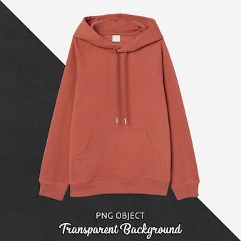 Vista frontale del mockup di felpa con cappuccio arancione