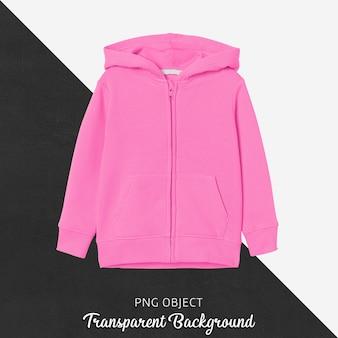 Vista frontale del mockup di felpa con cappuccio per bambini rosa