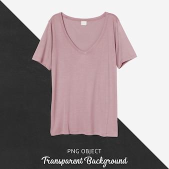 Vista frontale del mockup di maglietta normale rosa
