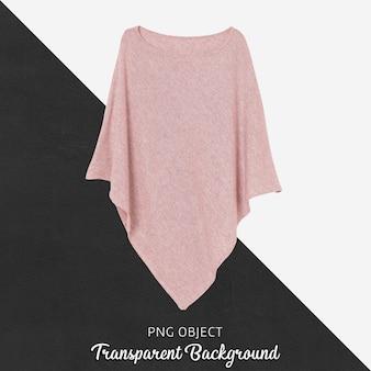 Vista frontale del mockup di poncho donna rosa