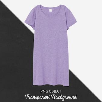 Vista frontale del mockup vestito base viola