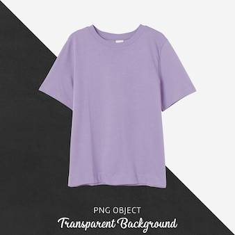 Vista frontale del mockup di maglietta ragazzo viola