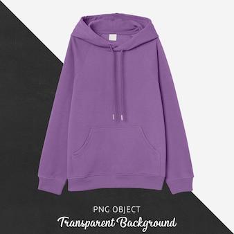 Vista frontale del mockup di felpa con cappuccio viola